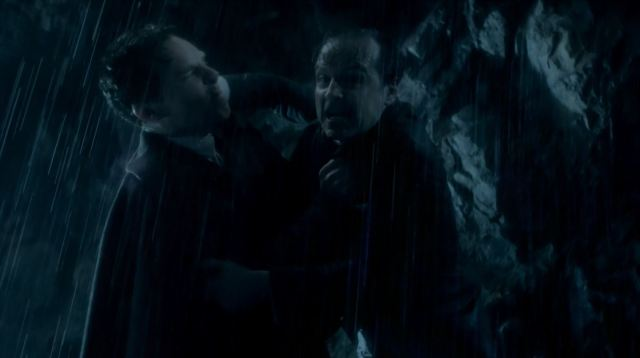 Sherlock and Moriarty at the Reichenbach falls
