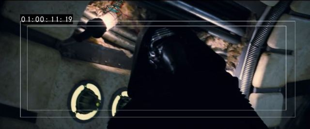 Kylo Ren on the Millennium Falcon