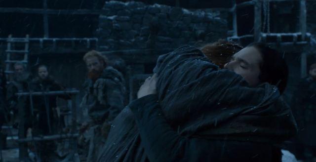 Sansa reunites with Jon Snow. Game Of Thrones S6Ep4 Book of the Stranger Review