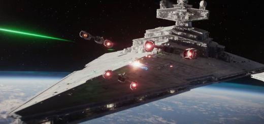Rogue One - Star Destroyer under attack
