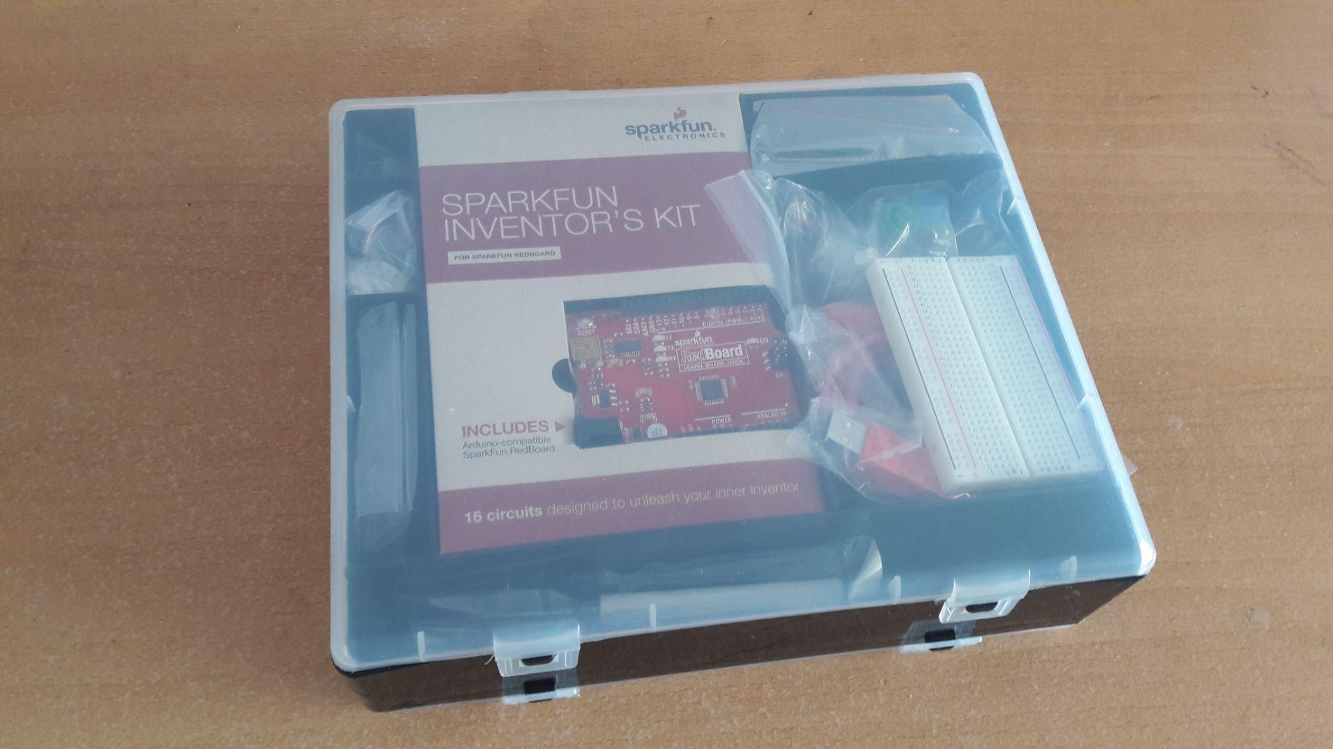 SparkFun Inventors Kit plastic box