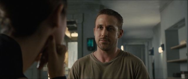Ryan Gosling as officer K in Blade Runner 2049