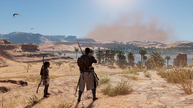 Assassin's Creed Origins - Bayek and his son