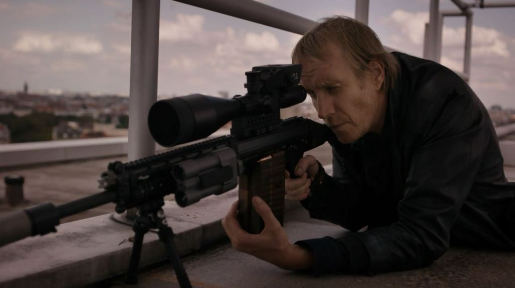 Berlin Station S02Ep07 Right and Wrong Review Hector DeJean aims his rifle