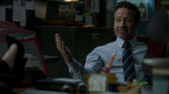 The X-Files S11E04 The Lost Art of Forehead Sweat - Mulder in his office