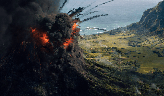 Jurassic World Fallen Kingdom Review Isla Nublar volcano eruption