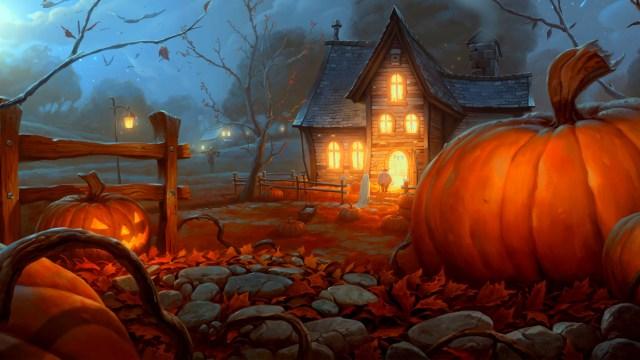 Happy Halloween landscape