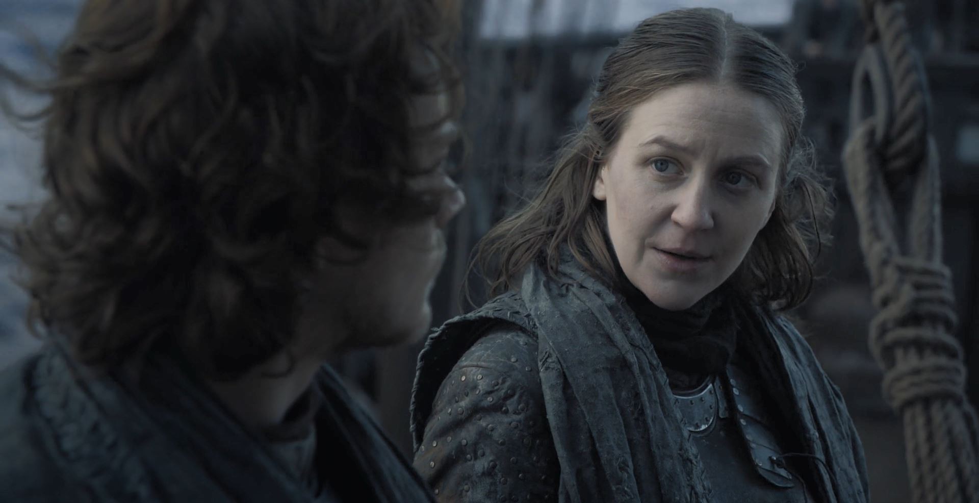 Game of Thrones S08E01 Winterfell Review - Yara talks with Theon