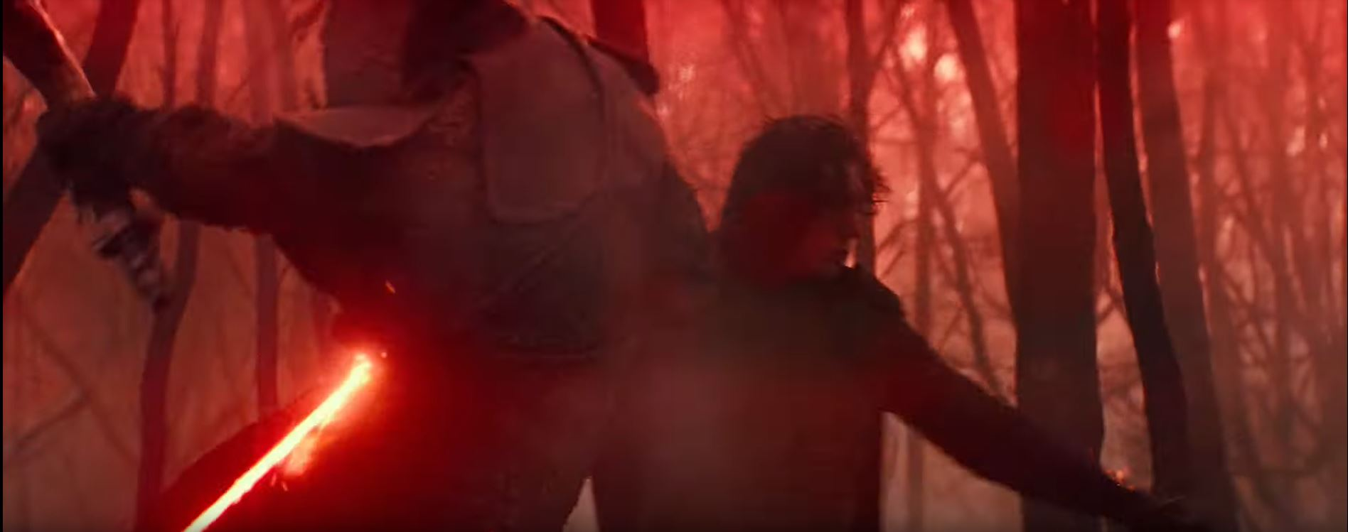 Star Wars The Rise of Skywalker Kylo Ren (Adam Driver) cutting down soldier