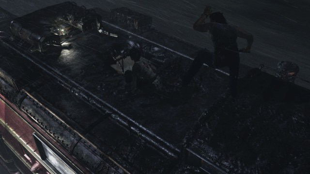 Resident Evil Zero - Billy and Rebecca on the roof