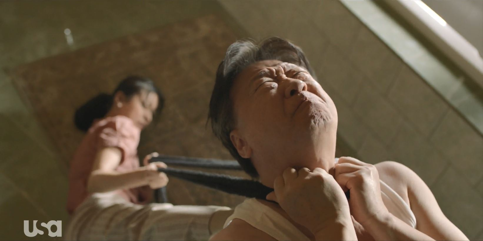 Treadstone Review - General Kwon being strangled