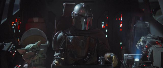 The Mandalorian Chapter 3 The Sin Review - baby Yoda and Mando played by Pedro Pascal