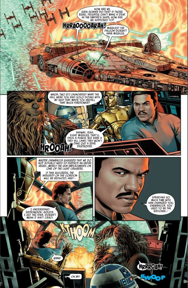 Star Wars (2020) #1 - Lando joining the Rebellion