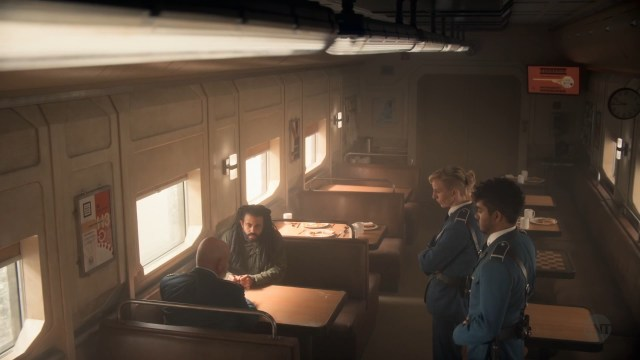 Snowpiercer series third class dining compartment