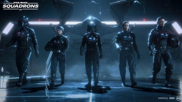 Star Wars Squadrons Titan Squadron members