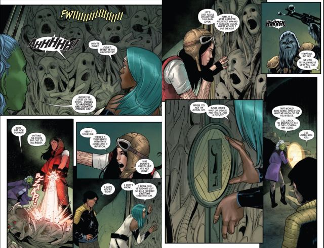 Star Wars Doctor Aphra #2 Aphra Okka and other start to hallucinate
