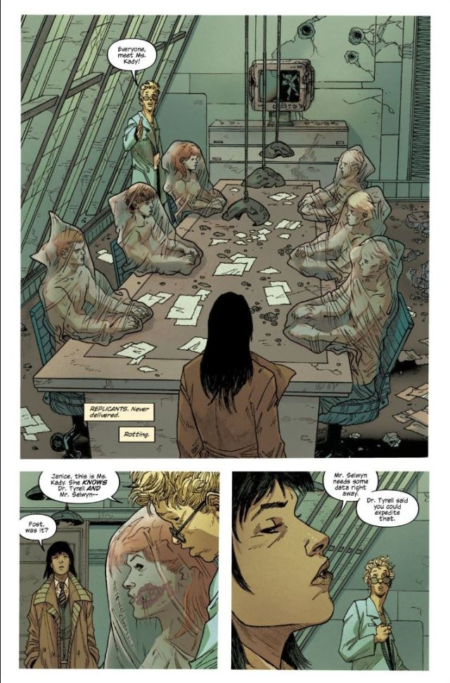 Blade Runner issue #9 Ash at the Tyrell Pyramids