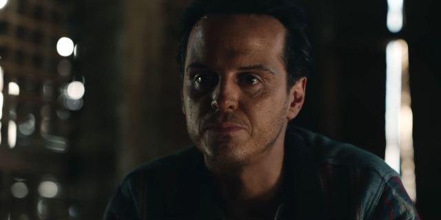 Andrew Scott as Grumman in The Tower of the Angels