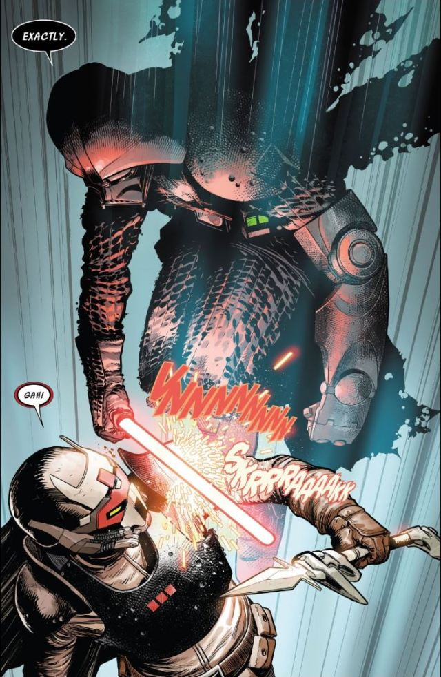 Darth Vader issue #7 Vader attacks Ochi