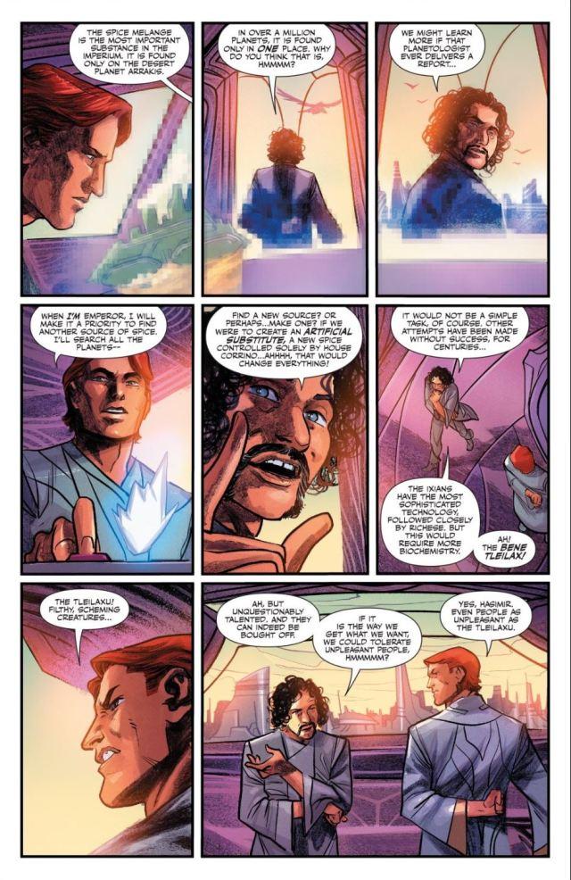 Dune House Atreides issue 3 Ferning and Shaddam plot against Elrood
