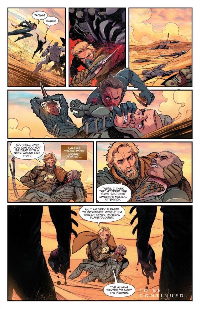Dune House Atreides issue 3 Kynes saves a Fremen warrior