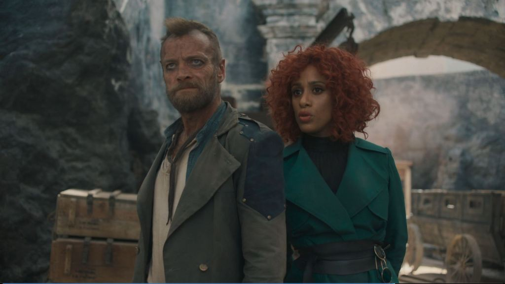 Sam Vimes and Sybil Ramkin in The Watch