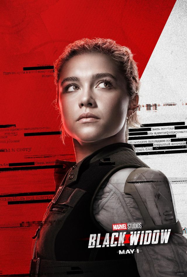 Florence Pugh in Black Widow poster