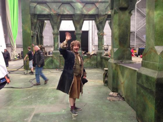 Hobbit Bilbo's last filming day