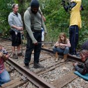 The Walking Dead BTS 414 rails