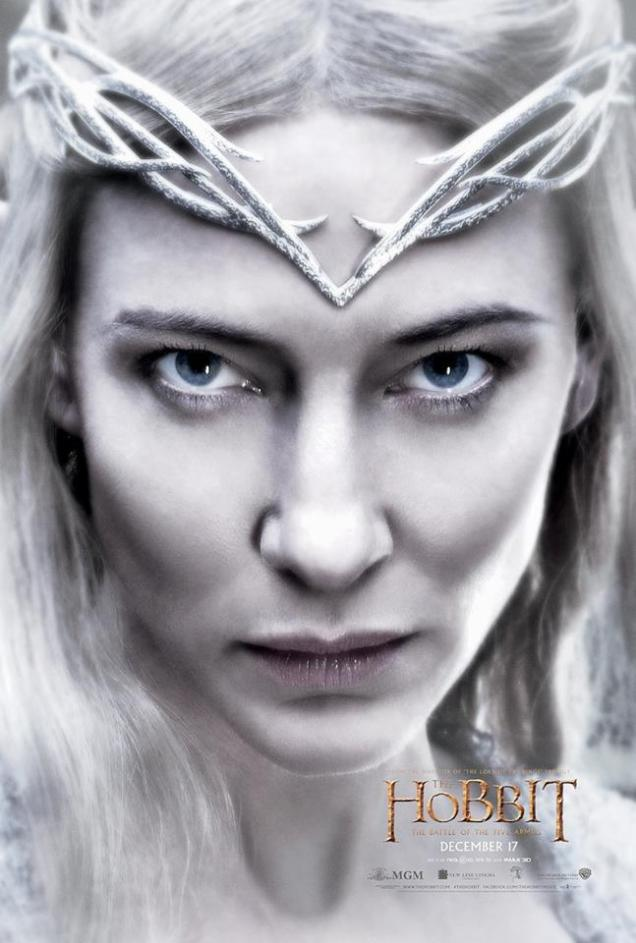 The Hobbit TBOTFA character poster Galadriel