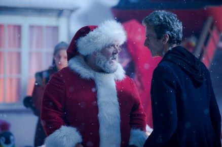 Picture shows; Nick Frost as Santa and Peter Capaldi as Doctor Who