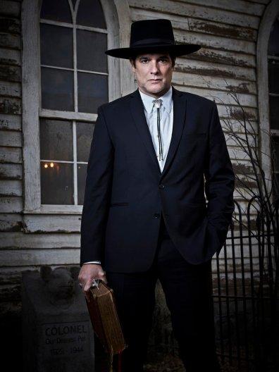 MIDNIGHT, TEXAS -- Season: 1 -- Pictured: Yul Vasquez as Rev. Sheehan -- (Photo by: Virginia Sherwood/NBC)