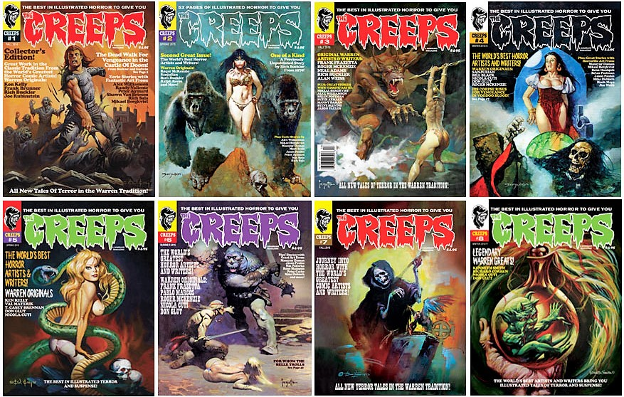 The Creeps - A horror comics anthology living in the Now with terror from the Past! Hell Yeah, Baby!