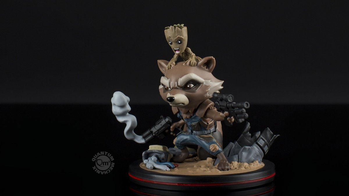 This Rocket and Groot PVC Figure is totally the cutest Q-Fig yet...maybe ever!
