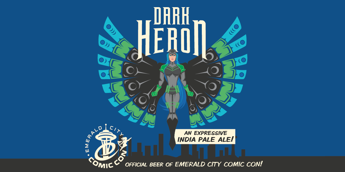 Dark Heron IPA returns to Emerald City Comic Con and comes with awesome Jeffery Veregge art!