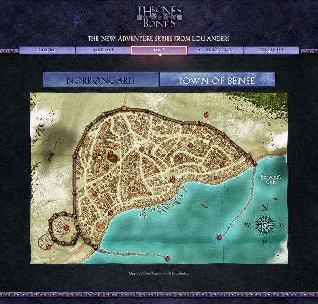 This amazing map of the city of Bense from the novelFrostbornwas created by Robert Lazzaretti of D&D and Pathfinder fame.