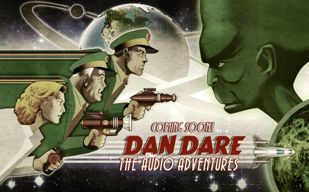 Dan Dare Audio Adventures Promotional Art. Art by Peter Hambling