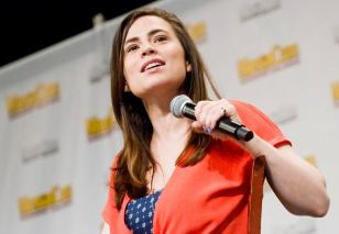Haley Atwell on stage