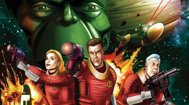 Dan Dare Audio Adventures - Voyage to Venus art by Brian Williamson