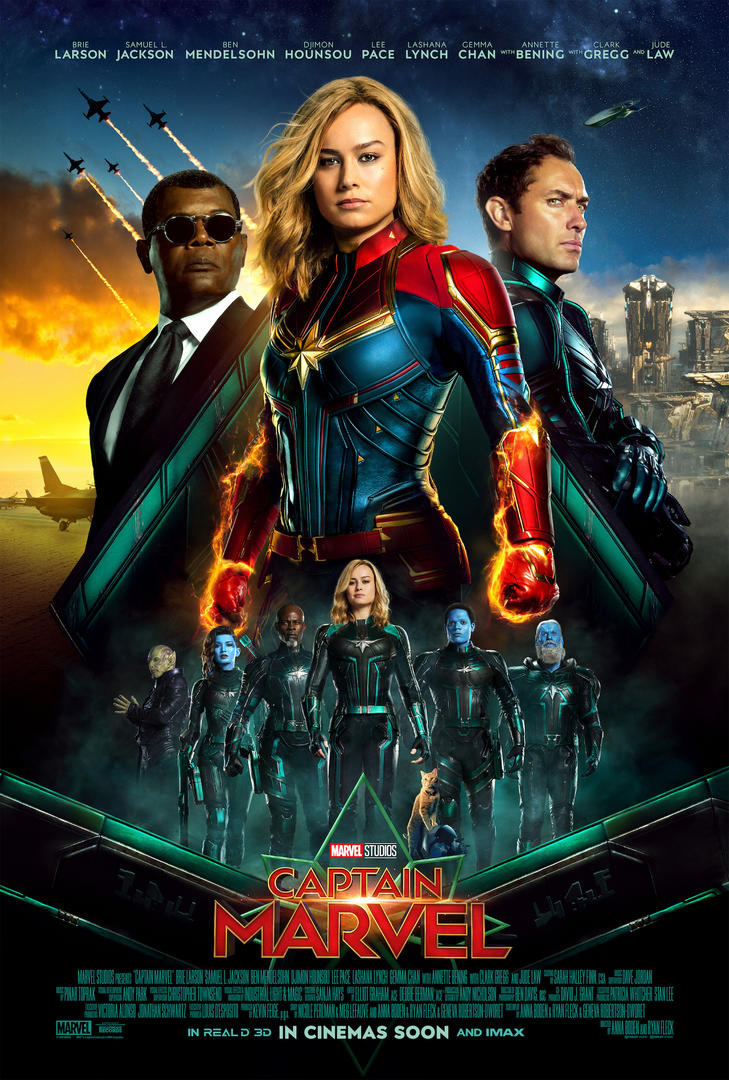 captain marvel release poster for the mcu movie