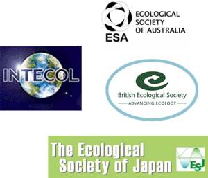 Logos from these organizations.https://www.intecol.net/pages/index.php,https://www.ecolsoc.org.au/,https://www.britishecologicalsociety.org/,https://www.esj.ne.jp/esj/e_index.html