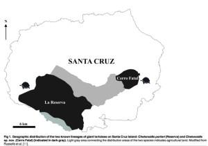 galapagos tortoise map