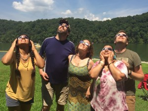 Humans acting strangely during the eclipse. Photo for Caroline DeVan by Leslie Hamilton.