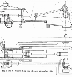 diagram of otto s 1876 four cycle engine [ 1024 x 770 Pixel ]