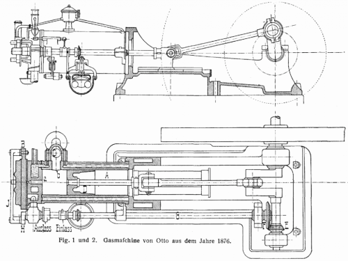 small resolution of diagram of otto s 1876 four cycle engine