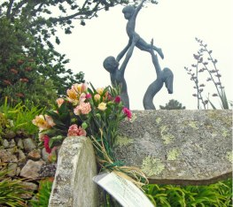 A lonely bouquet left on Tresco