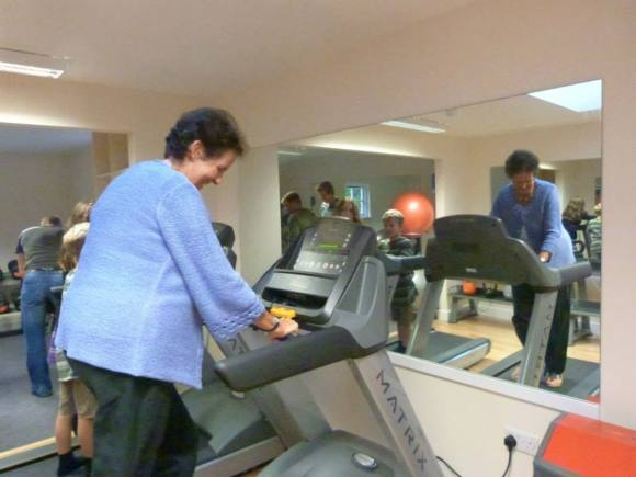 Christine tries out the gym