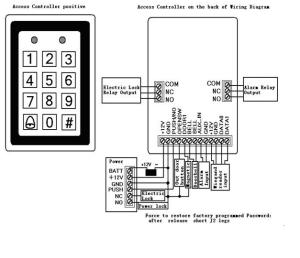 Rfid Metal Access Control Keypad Door Controller Electric Security Lock