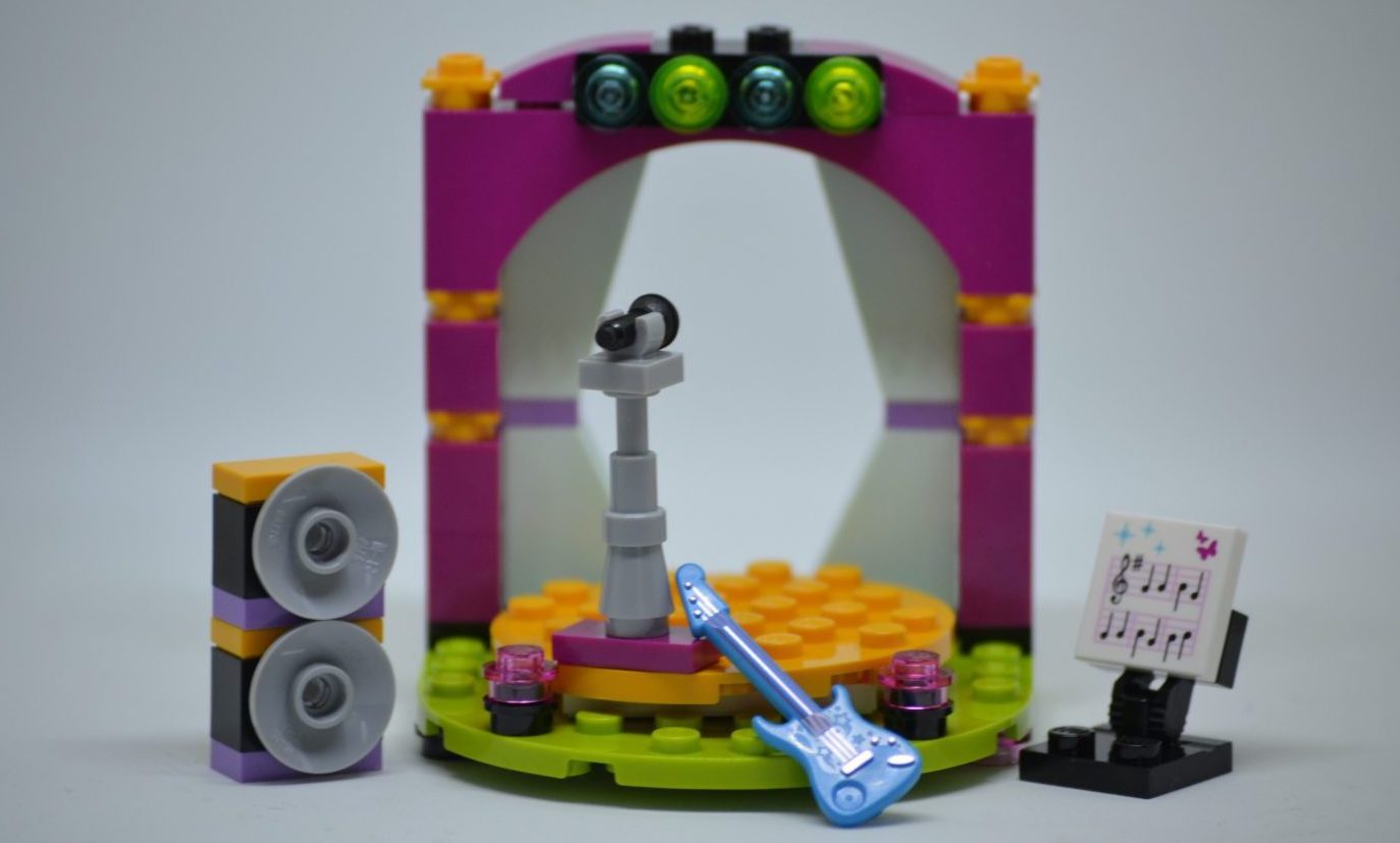 Lego figures music stage