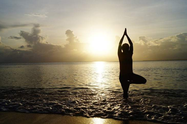 sun in the elements of yoga
